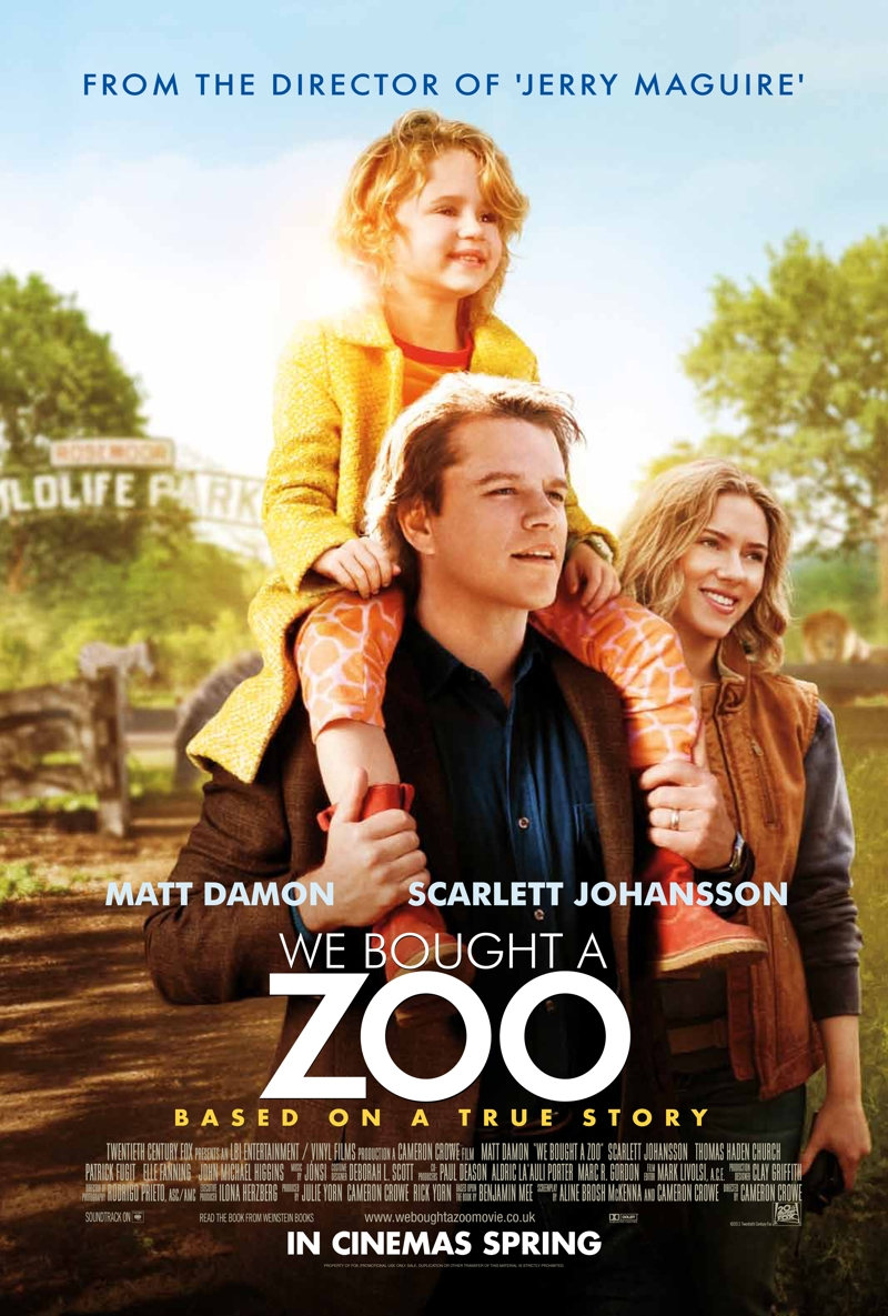 We Bought A Zoo - UK poster