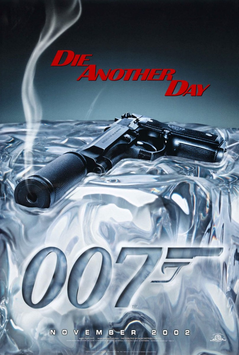 James Bond Die Another Day smoking gun poster