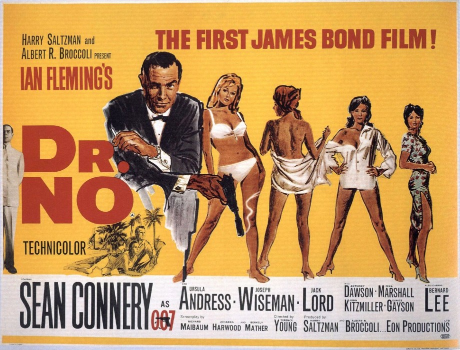 Dr No (1962) starring Sean Connery as James Bond in the first 007 movie