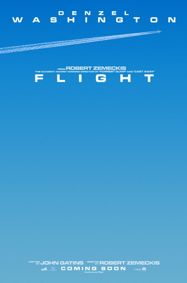Flight starring Denzel Washington - Teaser poster