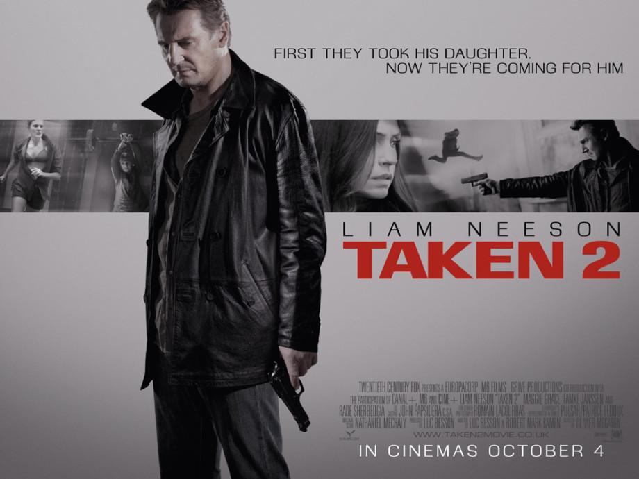 Taken 2 UK poster starring Liam Neeson