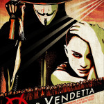 V for Vendetta movie poster. Hugo Weaving & Natalie Portman