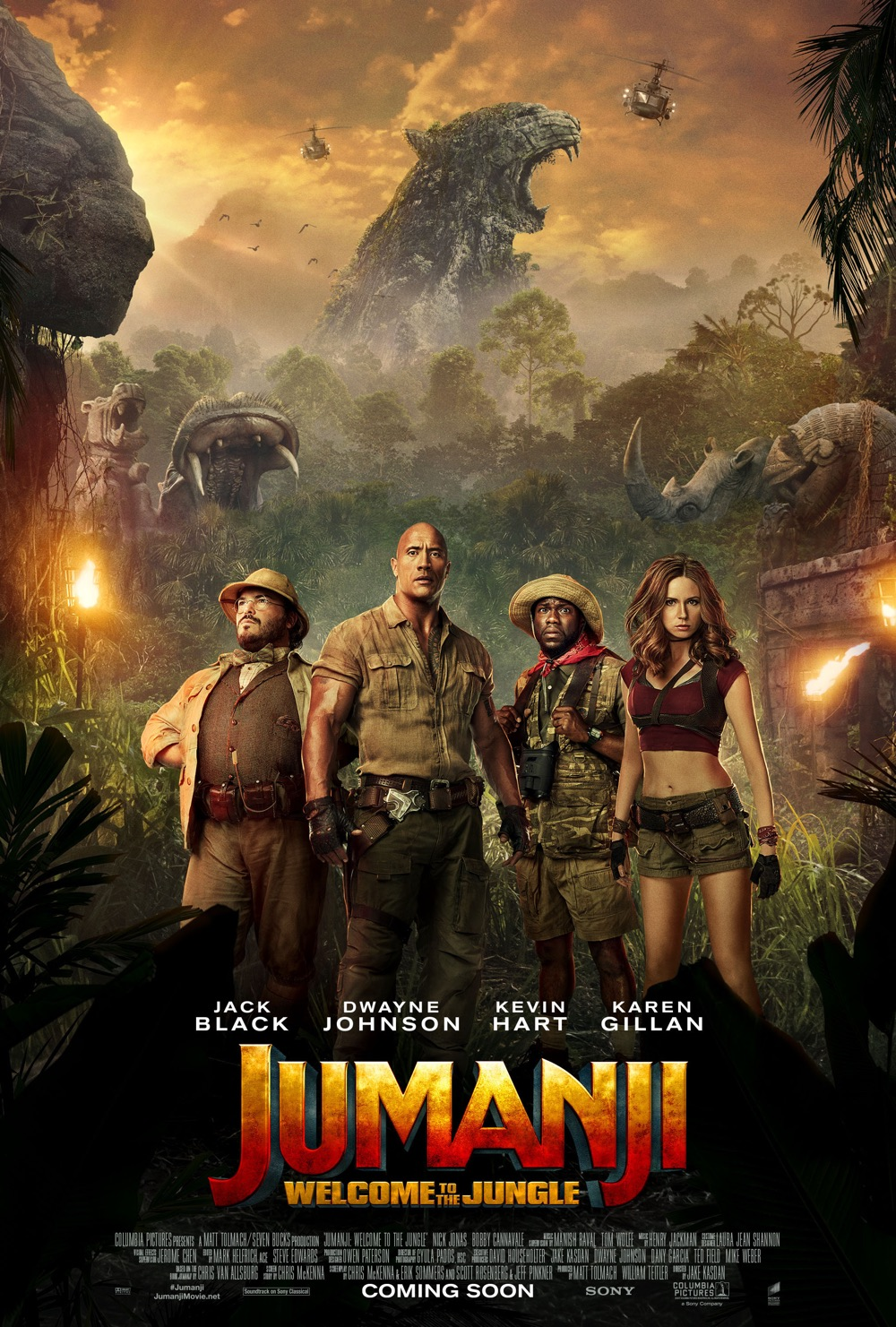 Jumanji: Welcome to the Jungle poster artwork